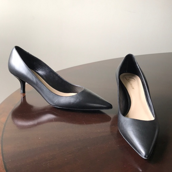 b96af5ad06c Delman Leather Pointed Toe Kitten Heel 9.5M Heels NWT